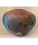 "Tony Evans Raku Pottery Vase Signed Numbered 11"" x 13"" Mid Century Modern - $365.97"