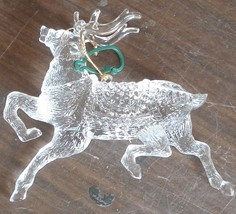 Gently Used Plastic Reindeer Christmas Ornament - VERY CUTE VGC - GREAT ... - $11.87
