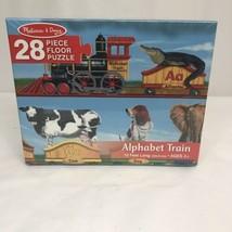 New Melissa & Doug Alphabet Train Floor Puzzle Complete 28 Pieces - $12.38