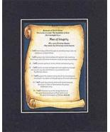 Touching and Heartfelt Poem for Inspirations - Man of Integrity Poem on ... - $19.95