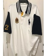 POLO RALPH LAUREN MENS CREST BIG PONY RUGBY POLO SHIRT WHITE LT NWT - $60.53