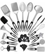 Complete Kitchen Cooking Utensils Nonstick Cookware Gadget Spatula 25 PC... - $59.81