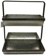 Farm C UDL Modern Farmhouse Galvanized Metal Triple Tray Planter, Decora... - $92.73 CAD