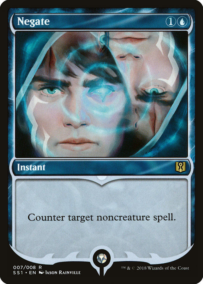 Negate 1x English NM/M Signature Spellbook Rare Blue Instant