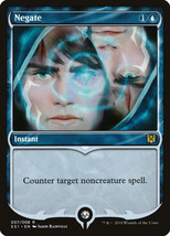 Negate 1x English NM/M Signature Spellbook Rare Blue Instant - $3.76