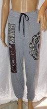 "Thrill Women's Gray Atlethic Embellished Sweat Pants ""Pink Princess"" Size: XL"