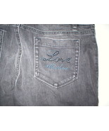 New NWT Womens 26 Designer Love Moschino Black Jeans Distressed Skinny L... - $188.00