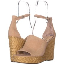 Jessica Simpson Suella Espadrilles Wedge Sandals 212, Sand Dune, 10 US - $33.59