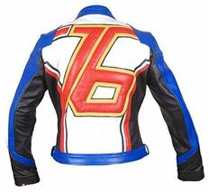Overwatch Game Soldier 76 Biker Synthetic Leather Jacket image 1
