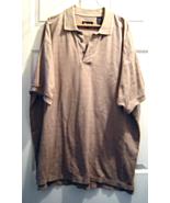 Van Heusen Mens Big Tall Polo Shirt size XL Tan Wheat Colored - $12.99