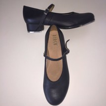 Bloch Tap Shoes Mary Janes Women's Sz 9.5 (Fits 8.5) Black Leather Heels - $42.42