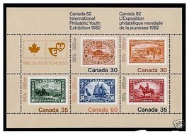 Canada 913a Stamp on Stamp, Ship, Animal, Horse mnh 1982 - $3.00