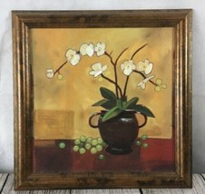 "Garden Room Orchids by Michael Clough Home Decor Wall Picture 12"" Framed Artwork - $19.75"