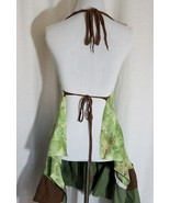 Floral Tunic Top Backless Green Floral Brown One Size By CrealSha - $48.48