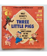 The Three Little Pigs (Walt Disney's Story of) 7' Vinyl Record/Book, Dis... - £13.60 GBP