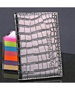 Buy2} Men& Women Travel Passport Cover ID Holder Synthetic Leather Nice ... - $6.95