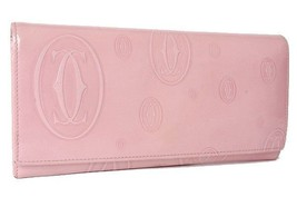 AUTHENTIC CARTIER Happy Birthday Bifold Long Wallet Pink L3000785 - $250.00