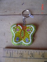 Beaded Key Chain - BUTTERFLY - GARDENING - Lot of TWO (2) - $9.89