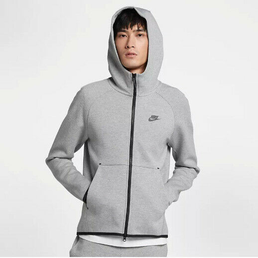 Primary image for Nike Men's Tech Fleece Full-Zip Hoodie NEW AUTHENTIC Grey 928483-063