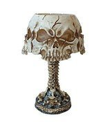 Ossuary Skull LED Mini Night Lamp Color Changing Desktop Halloween Decor - $29.69