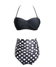 Women's Underwire Padded Push Up High Waist Two Pieces Bikini Set - $21.99