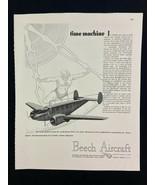 Beech Aircraft D18S Plane Magazine Ad 10.75 x 13.75 Dresser Engineer - $9.89
