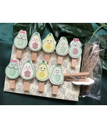 avocado 30pcs wooden paper clip,Pin Clothespin,Birthday Party Favors Gif... - $3.20+