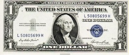 SERIES 1935 E      ONE DOLLAR SILVER CERTIFICATE==VERY FINE - $6.44