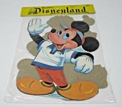 Vintage Dennison Disneyland Party Decorations Mickey Goofy Pluto Sealed Bag - $26.74