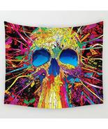 Abstract Skull Trippy Tapestry Psychedelic Tapestry Wall Hanging, 59x51in - $32.00