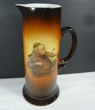 Antique 1930's USONA Goodwin Friar Monk Playing the Violin Porcelain Tan... - $39.99