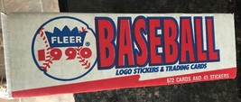 NIB 1990 FLEER BASEBALL CARD COMPLETE FACTORY SEALED SET 672 CARDS 45 ST... - $14.99