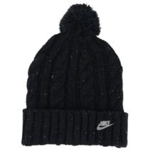 Nike unisex  Sportswear Cable Knit Beanie Hat One Size pom - $19.79