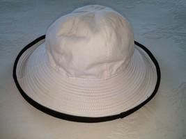 PANAMA JACK WHITE/BLACK COTTON BUCKET HAT-ONE SIZE-NWOT-GREAT SUMMER HAT - $9.95