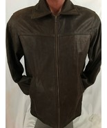 Men's Vintage Cricket London England Brown Leather Jacket Made in Canada... - $94.65
