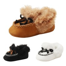 Baby Shoes Winter Crib First Walkers Fleece Warm Soft Sole Boots Accesso... - £6.89 GBP