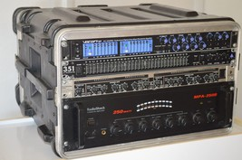 Radio Shack PA Stereo Amplifier Model MPA-250 250W RMS -EQ- Travel Case ... - $405.00