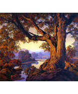 Riverbank Autumn 30x44 Hand Numbered Edition Maxfield Parrish Art Deco P... - $118.04