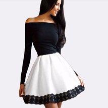 Women Off Shoulder Lace Full Sleeve Mini Dress - $16.50