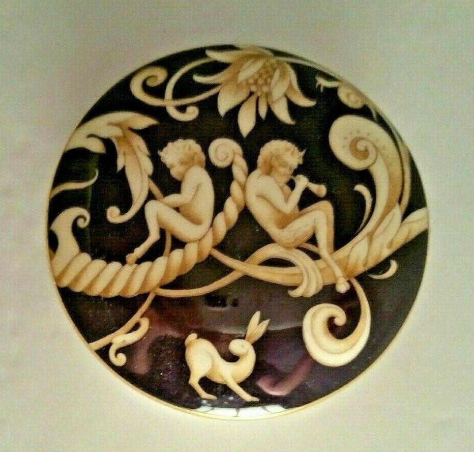 Primary image for Wedgwood Cornucopia Bicentenary Celebration Bone China Round Trinket Box and Lid