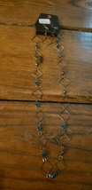 Paparazzi Short Necklace & Earring set (new) #630 SILVER SQUARES & TEAL ... - $7.61