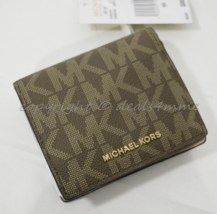 NWT Michael Kors Jet Set Travel Carryall Card Case in Signature Mocha Brown - $79.00