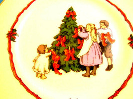 Fitz & Floyd Victorian Christmas Plate Decorating The Tree 1982 Vintage ... - $7.91