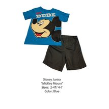 DISNEY KIDS SET (4 YEARS, BLUE MICKEY) - $8.81