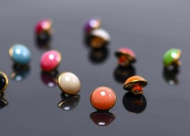 10 Faux Pearl Buttons Vintage Style Jewelry Making Sewing Supplies Assor... - $3.99