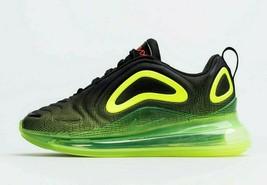 Nike Big Kid's Air Max 720 Shoes (GS) NEW AUTHENTIC Black/Volt  AQ3196-005 - $129.99