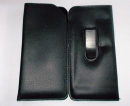 GLASSES CASES SET OF 2 BLACK READING GLASS CASE POUCH W/ BACK CLIP POCKE... - $9.90