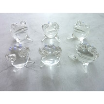 Vintage Hand Blown Glass Frogs Toads Small Figurine Collection - £36.13 GBP