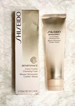 Shiseido Benefiance Extra Creamy Cleansing Foam 4.4 floz/125 ml New In Box - $47.95