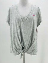 Xhilaration Juniors Heather Gray Short Sleeve V-Neck Sleep Shirt Size XL... - $9.90